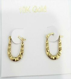 Solid Yellow Gold U shape Oval Patterned Hoops Hoop Earrings Diamond Cut. RG&D is a unique collection of Wedding Rings, Engagement Rings, Fashion Rings, Gold Chains, Pendants and jewelry for men. Gold Diamond Earrings, Gemstone Colors, Gold Chains, Fashion Earrings, Diamond Cuts, Wedding Rings, Shape, Engagement Rings, Gemstones