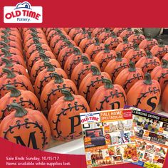Home Decor, Rugs, Furniture, Housewares & More! Old Time Pottery, A Pumpkin, Furniture Sale, Autumn Home, Hostess Gifts, Rugs, Fall, How To Make, Life