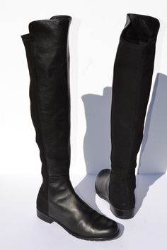 35dc24a828d1a Stuart Weitzman 5050 Over The Knee Black Leather Boots Size 7 M  leather   boots