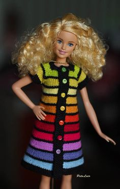 Knit Fashion, Fashion Dolls, Dress Outfits, Girl Outfits, Dresses, Barbie Stories, Barbie Model, Rainbow Outfit, Clean Microfiber