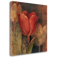 Tangletown Fine Art 'Tulip Reflection' by Albena Hristova Painting Print on Wrapped Canvas