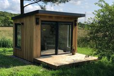 Gallery | Insulated Garden Rooms | Outside In Garden Home Office, Shed Office, Tiny Office, Backyard Office, Home And Garden, Office Pods, Insulated Summer House, Insulated Garden Room, Contemporary Sheds