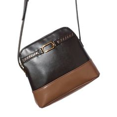 "Lexi Leather Crossbody Bag ■ Brown with cognac colorblock-style leather bag. Goldtone hardware detail. Zipper closure and one inner zip pocket. 9"" L x 2 1/2"" W x 7 1/2"" H. Handle drop (adjustable), 21 1/2"" L., $19.99 Visit my online store at www.youravon.com/amartinez8866"