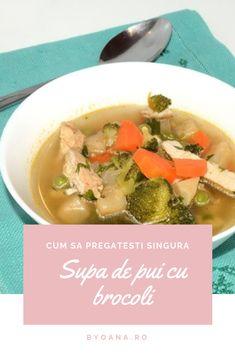 Reteta supa de pui cu brocoli #reteta #supa Soup Recipes, Soups, Ethnic Recipes, Food, Soup, Meals, Soup Appetizers, Yemek, Eten