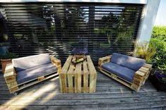 Outdoor pallet sofas ideas.