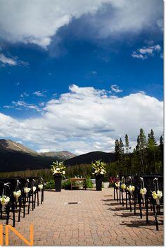 Ceremony details at Ten Mile Station in Breckenridge, Colorado