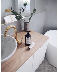 Bathroom Tiles & sink from @ulfven - faucets from @tapwell #spons #home #bathroom
