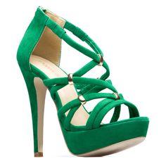 gorgeous green crisscross straps