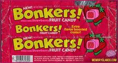 bonkers candy My favorite candy when I was little! School Memories, Best Memories, 90s Childhood, Childhood Memories, Childhood Quotes, Childhood Characters, 1980s Candy, Before I Forget, Don't Forget