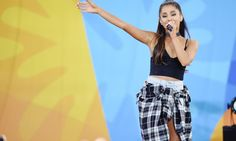 """NEW YORK, NY - MAY 20:  Ariana Grande Performs During ABC's """"Good Morning America's"""" 2016 Summer Concert Series at Rumsey Playfield, Central Park on May 20, 2016 in New York City.  (Photo by Nicholas Hunt/Getty Images) ORG XMIT: 640909233 ORIG FILE ID: 533031246"""