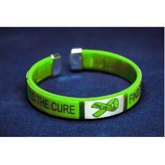 Lime Green Ribbon Bracelet Fabric Bangle Find The Cure Retail 5 Tick Bitemental Health Awarenesslyme