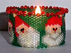 Santa's Coming T-Light - Beading Daily