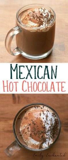 Mexican Hot Chocolate Recipe | #hotchocolate #chocolate #drink #winter