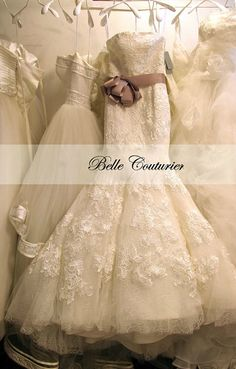 Custom Made Wedding Dress  Alencon Lace Tulle by bellecouturier, $895.00