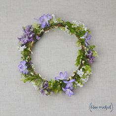 Flower Crown Purple Flower Crown Silk Flower Crown