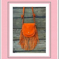 Native Indian Style Fringe Crossbody Bag In Tan $75.00