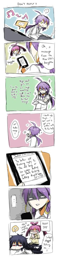 Magi-Don't Reply ! by Erumi-n.deviantart.com on @deviantART I may have just started shipping JudarXKougyoku.