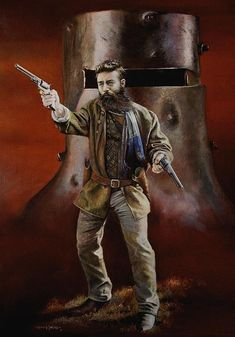 ned-kelly-chris-collingwood Sidney Nolan, Seven Movie, Famous Outlaws, Cardboard Costume, Grim Reaper Tattoo, Australia Kangaroo, Ned Kelly, Melbourne Street, The Hanged Man