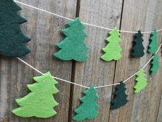 Kiefer Baum Garland Christmas Garland fühlte sich von FeltWitch