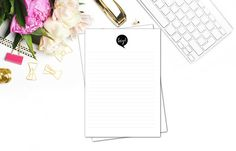 Hey! New printable stationery. Black and white. Print your own stationery