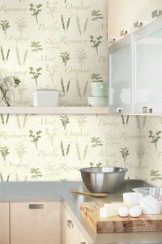 Kitchen wallpaper at its best this is how to decorate for Thick kitchen wallpaper