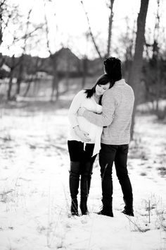 #winter maternity #snow A & T | Maternity Shoot, West Dundee, Illinois » Chelsea Corinne Photography the Blog