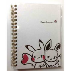 Pokemon 2014 Pokemon Love Its Demo Campaign Pikachu Eevee Small Hardcover Spiral Notebook (Version #2)