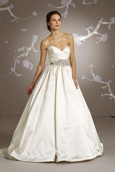 Lazaro - Sweetheart Ball Gown in Silk Faced Satin