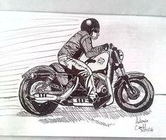 #illustration #ilustração #sketch #sketchbook #draw #drawing #desenho #moto