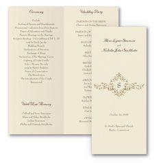 French Floret Wedding Program