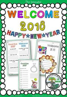 Happy New Year 2018 - Resolutions ............................................................................................... New Year's Resolutions Happy and Safe New Year ...!! Enjoy this resource of NO PREP printable resources. Included in this resource: * Welcome 2018 - colouring kids' activities * Describe yourself * New Year 2018 GOAL * 04 resolution sheets * Motivational posters * Colouring activities