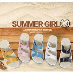 dc0e18d22d0 Women Casual Leather Slip On Flat Platform Sandals. Shoe Type  ...