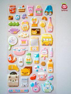 Kawaii Stickers by iammie, $3.95