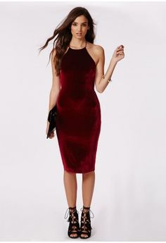 de9f893627 This smokin  burgundy velvet midi dress is what we are obsessing over this  season at