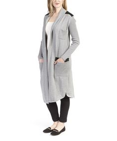 Look what I found on #zulily! Gray & Black Three-Pocket Duster by Olivia M #zulilyfinds