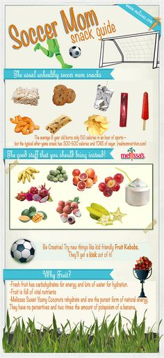 Top 9 incredibly healthy soccer snacks for the mom on the go. Healthy soccer snacks make for better team players. Should show my mom this. Soccer Treats, Soccer Snacks, Sports Snacks, Team Snacks, Kids Soccer, Soccer Games, Soccer Stuff, Kid Snacks, Kid Lunches