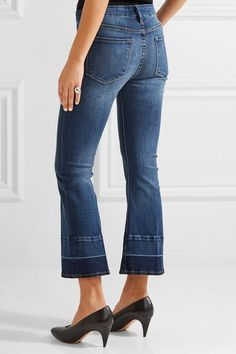 FRAME - Le Crop Mini Mid-rise Bootcut Jeans - Mid denim