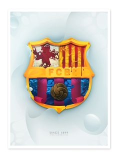 F.C.B. SHIELD by DSORDER , via Behance