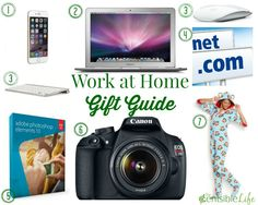 As a work at home Mom for the better part of 15 years ~ I love every bit of this! Work at Home Gift Guide