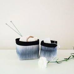 TREASURE: Aura-säilytyskori | Weecos #annieeleanoora #aura #canvasbasket #shiborideco #shibori #dyeing #kangaskori #värjäys Shibori, Deco, Fabric, Tejido, Tela, Decor, Cloths, Deko, Fabrics