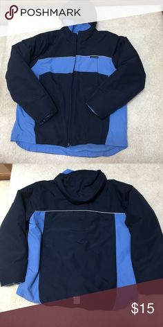 Boys Lands End Winter Jacket worn but still in good condition. navy and light blue. Lands' End Jackets & Coats Puffers