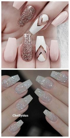 DIY summer glitter nails sliver pink clear gold short white coffin black champagne tips neutral #nails #nailart #nailstagram #nailswag #naildesigns #glitter #glitternails #glittermakeup #nailgoals #sliver #gold #summer #diy #design #fashion #beautiful #gelnails #coffinnails #makeup #instagram
