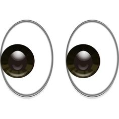 "Eyes Emoji PNG. Let someone know you're looking or say the word ""eyes"" in a hurry with this peeping emoticon."