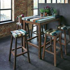 Manaka : Table de bar rectangulaire