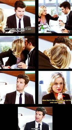 Ben Wyatt and Leslie Knope -- Parks and Recreation Best Tv Shows, Best Shows Ever, Favorite Tv Shows, Movies And Tv Shows, Parks And Rec Memes, Parks And Recreation Ben, Parcs And Rec, Leslie And Ben, Ben Wyatt