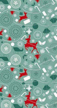 Un bonito estampado navideño te puede servir para envolver un regalo, forrar una caja y mil cosas más   Enlaces:   http://meinlilapark.blogs...