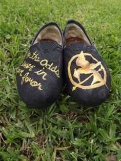 HUNGER GAMES Hand Painted Toms by pinstripesNparasols on Etsy, $90.00