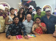 The team of the movie The Shaukeens now on the promotion tour. Star-cast Anupam Kher, Annu Kapoor and Piyush Mishra, Akshay Kumar & Lisa Haydon. #gmi #theshaukeens #Anupamkher #cnwk #comedyclasses #Akshaykumar
