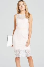 Paper Dolls Blush and Cream Lace Overlay Dress - Paper Dolls from Little Mistress UK