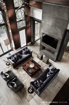 Best Traditional and Modern Fireplace Design Ideas Photos & Pictures – Farmhouse interior livingroom Luxury Interior, Modern Interior Design, Interior Architecture, Luxury Decor, Luxury Food, Room Interior, Fireplace Design, Fireplace Furniture Arrangement, Fireplace Windows